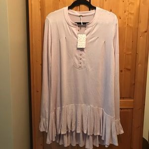 Free People dusty lavender tunic top size S